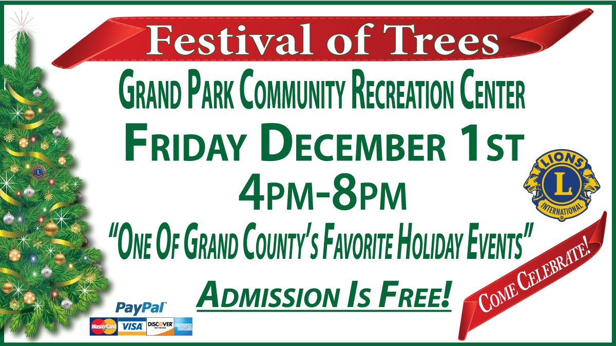 2017 Lions Festival of Trees @ Grand Park Community Recreation Center